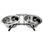 DOG/ CAT DOUBLE FEEDER (STAINLESS) DC36