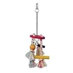 ROPE CHIME WITH ROUND TOP, BELL & BEAD 81126