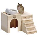 HAMSTER WOODEN DISH TABLE 2floor HT34