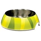 STYLE BOWL WITH SS INSERT GREEN ZEBRA- X SMALL 54526