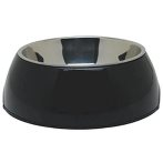 DURABLE BOWL w SS INSERT - BLACK EXTRA SMALL 73538