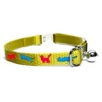 NYLON WEBBING COLLAR (JUMPING CAT) BW/NYCH10S