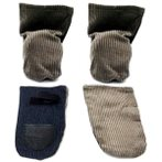 DOG SHOE - CLOTH (ASSORTED) 2L XS2L