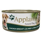 TIN CHICKEN BREAST WITH BEEF LIVER & VEGETABLES (DOGS) 156g MPM03006