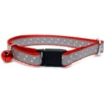 CAT COLLAR - DOTS (RED) BW/NYCR10RGRD