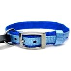 DOG COLLAR (DOUBLE WEBBING)(BLUE)(15mm*30-45cm) BW/NYCR15PBBL