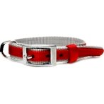 DOG COLLAR (DOUBLE WEBBING)(RED)(20mm*40-55cm) BW/NYCR20PBRD