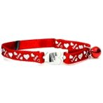 CAT COLLAR WITH LOVE (RED) BW/SCCLOVERD