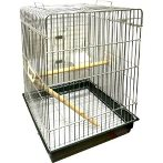 PARROT CAGE WITH 2 PLASTIC CUPS PHSB07Z
