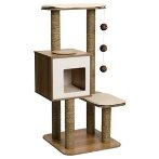 CAT FURNITURE V-HIGH BASE 4-TIER - WALNUT VP52045