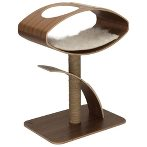 CAT FURNITURE V-HIGH LOUNGE WALNUT 2-TIER VP52055