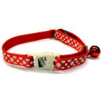 CAT COLLAR - REFLECTIVE DOT (RED) BWCCSILVERDOTRD