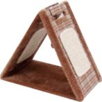 TRIANGLE CAT SCRATCHER - CHECKERED (BROWN) YS93235