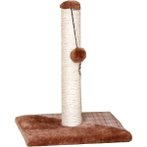 CAT TREE WITH SISAL POST & TOY - CHECKERED (BROWN) YS93236