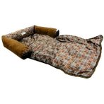 PET BED/MAT - CHECKERED (BROWN) (SMALL) YF93133BNS