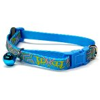 DOG COLLAR-GEOMETRY (BLUE) (SMALL) (10mm x 22-35cm) BWDC1603BUS