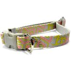 DOG COLLAR- GEOMETRY (SILVER) (MEDIAN) (15mm x 25-40cm) BWDC1603SLM
