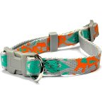 DOG COLLAR- TRIBAL (SILVER) (MEDIAN) (15mm x 25-40cm) BWDC1604SLM