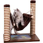 CAT TREE 2 SISAL POLE WITH SWING (BROWN) YS95731