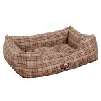 PET BED - CHECKED (BROWN) (MEDIUM) YF95146M