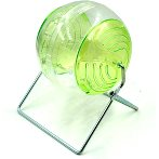 HAMSTER ROLLING BALL WITH STAND (ASSORTED) 13.5cm BW6973A