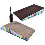 CAT SCRATCHER WITH TOY - SLOPE YT99852