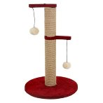 SISAL POLE WITH TOYS (RED) YS91551