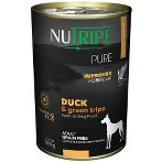 PURE DUCK & GREEN TRIPE FOR DOGS 390g NUT3759