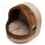 PET IGLOO - ZIGZAG (BROWN) (LARGE) YF98616L