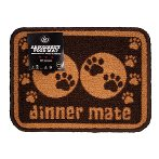 MINI ABSORBENT FOOD MAT - PAWS (BROWN) PRE0MMBR