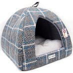 PET IGLOO - CHECKED (GREY) (LARGE) YF100366GYL