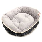 PET BED OVAL - CHECKED (GREY) (MEDIUM) YF100370GYM