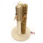 TRIPLE SISAL POLES WITH TOYS (BEIGE) YZJS15189