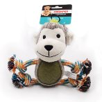 MONKEY PLUSH WITH TPR BELLY & ROPE (GREY) IDS0WB20449