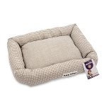 PET BED - HOUNDSTOOTH (BROWN) (SMALL) YF103327BNS