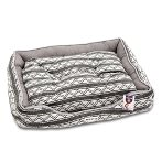 LOUNGER BED - TRIBAL ZIGZAG (GREY) (MEDIUM) YF103208GYM