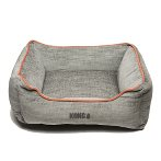 LOUNGER BED (LIGHT GREY / ORANGE PIPING) (SMALL) DGS0KONGHLB2252