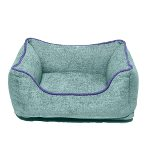 CHENILLE LOUNGER BED (GREEN / BLUE TRIM) (EXTRA LARGE) DGS0LBH356501