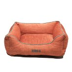LOUNGER BED (ORANGE / LIGHT GREY PIPING) (SMALL) DGS0KONGHLB2272