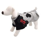 T-SHIRT - DOG BONE (GREY) (SMALL) (25cm) SS0TK054GYS
