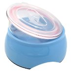 SMOOTH BOWL WITH COVER (BLUE) (218ml) (15.2x15.2x5.3cm) JNB173BU