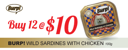 Burp! Wild Sardine with Chicken Canned Food Promotion