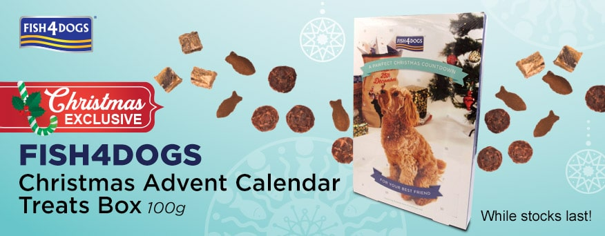 Fish4Dogs Christmas Advent Calendar Treats Box Promotion
