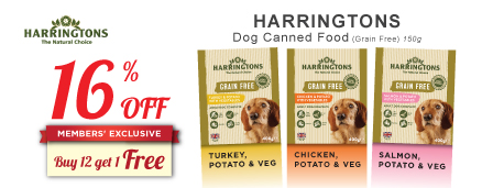 Harringtons Dog Canned Food Promotion