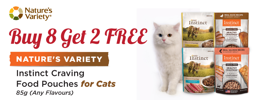 Nature's Variety Cat Pouch Food promotion