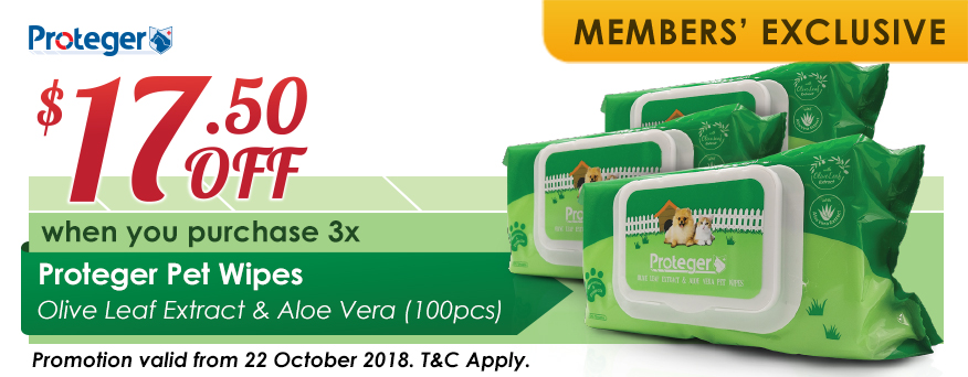 Proteger Pet Wipes Promotion
