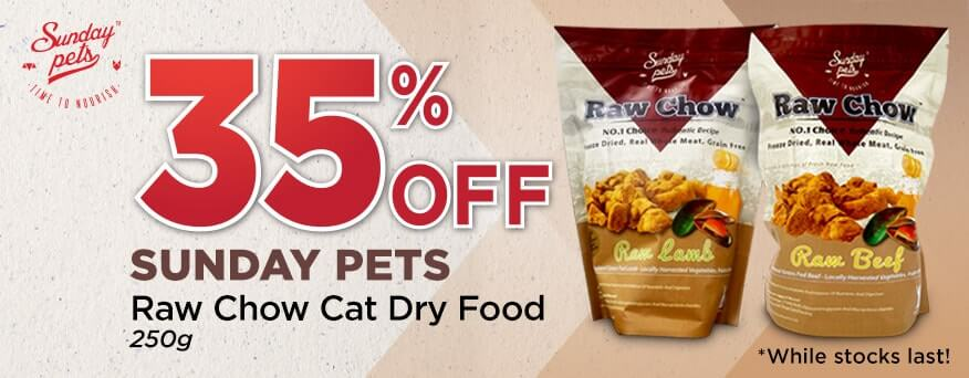 Sunday Pets Raw Chow Cat Dry Food Promotion