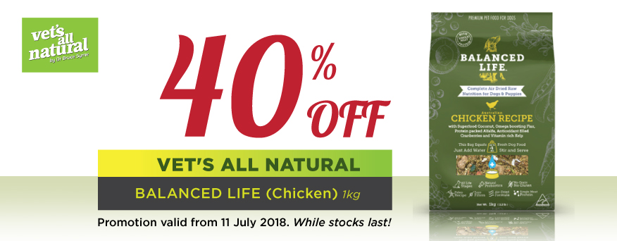 Vet's All Natural Balanced Life Promotion